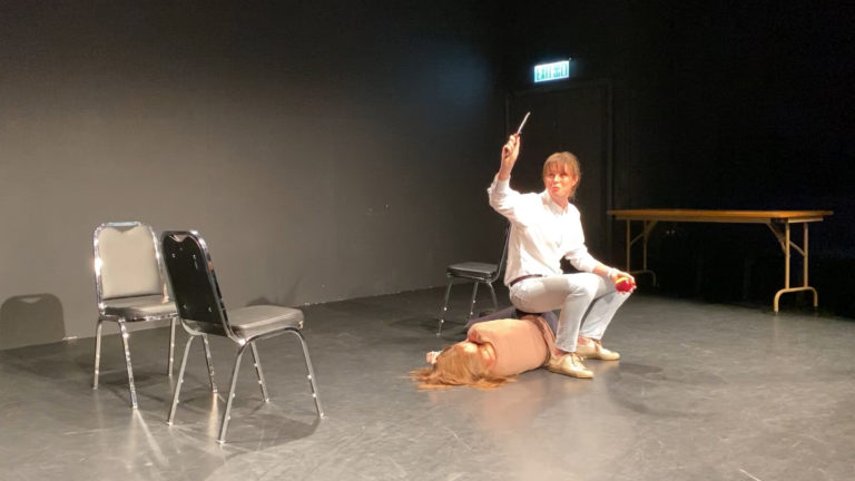 HKTA Hong Kong Theatre Association with Emilie Guillot - drama workshop - monologue - Tara Barot - straight to the nitty gritty