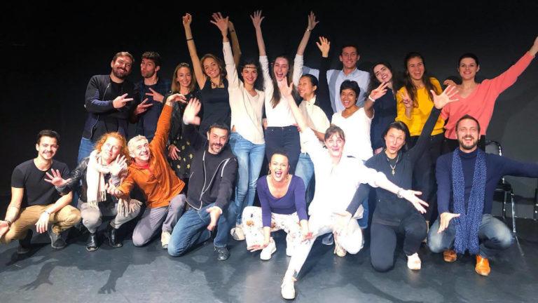 HKTA Hong Kong Theatre Association with Emilie Guillot - drama workshop - monologue showcase - panel: Philippe Joly, Bastien Guers, Lenny B. Conil ... Actors: Tara Barot , Lucie Petit, Andreas Guzman ...