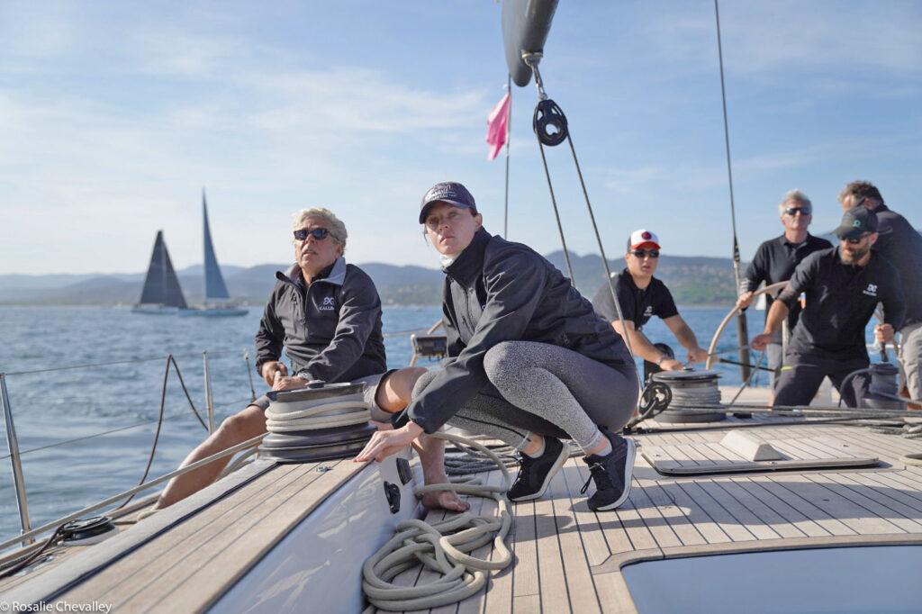 Tara Barot - sailor, voiles de St Tropez 2020, Kallima Swan 82 sailing crew