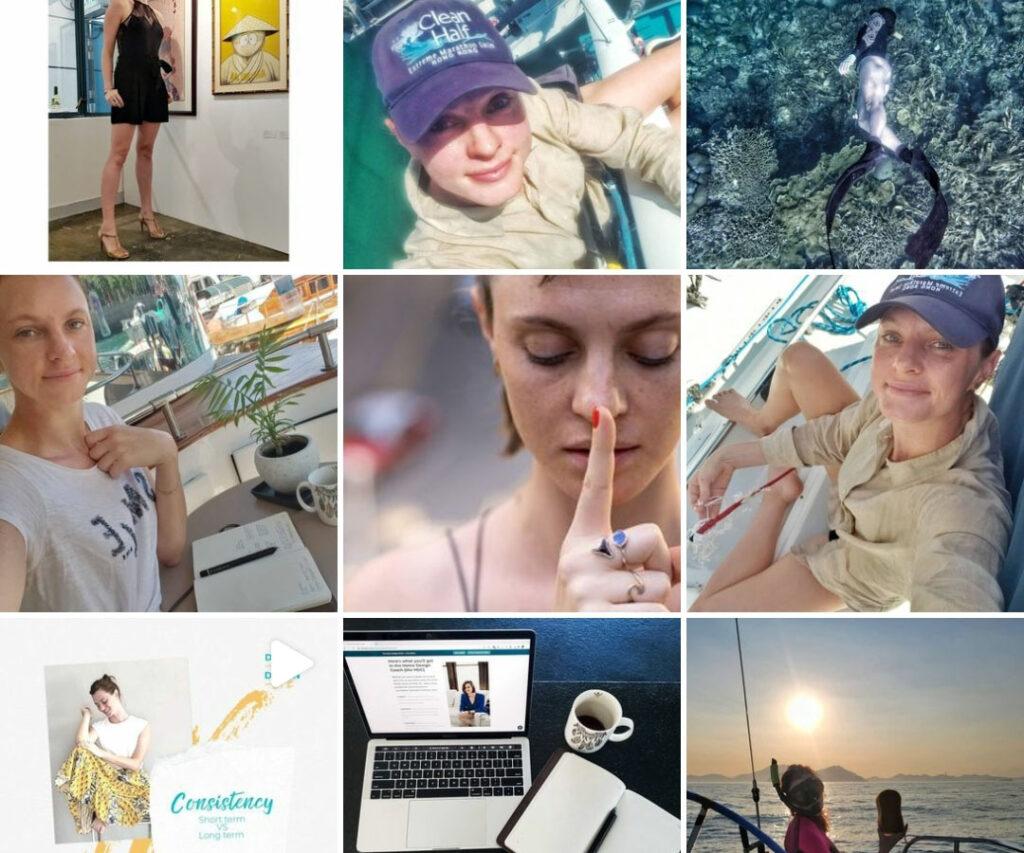 Tara Barot Instagram - inspiring by living - multipassionate human - interior designer, sailor, podcast host, swimmer, freediver